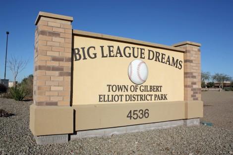 Big League Dreams - sign