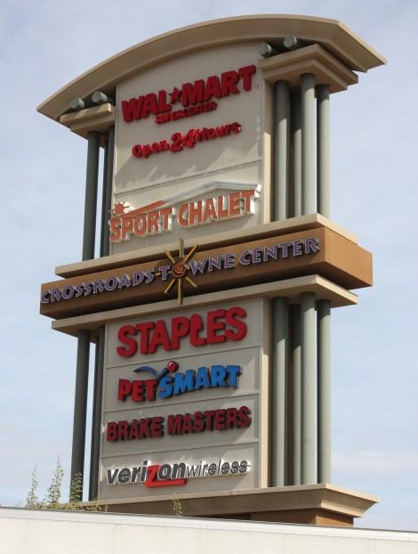 Crossroads Towne Center sign