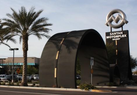 Henry Brown - SanTan Motorplex sign
