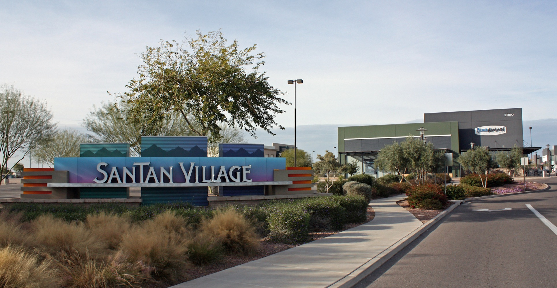 Santan village blue wasabi entrance