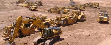 Main Excavtor 8 Scrapers 3 Dozers